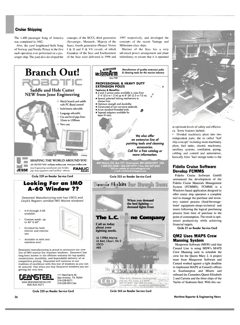 Maritime Reporter Magazine, page 36,  Mar 2004 Crew Manning