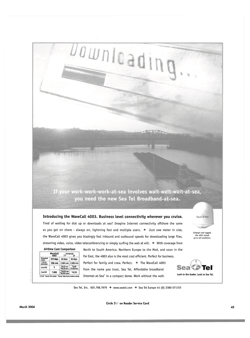 Maritime Reporter Magazine, page 45,  Mar 2004 ISDN