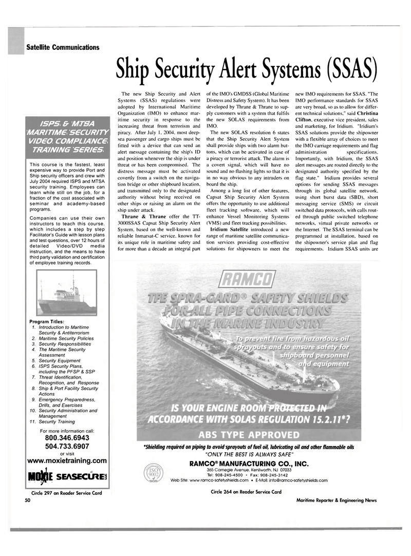 Maritime Reporter Magazine, page 3rd Cover,  Mar 2004 switched data protocols