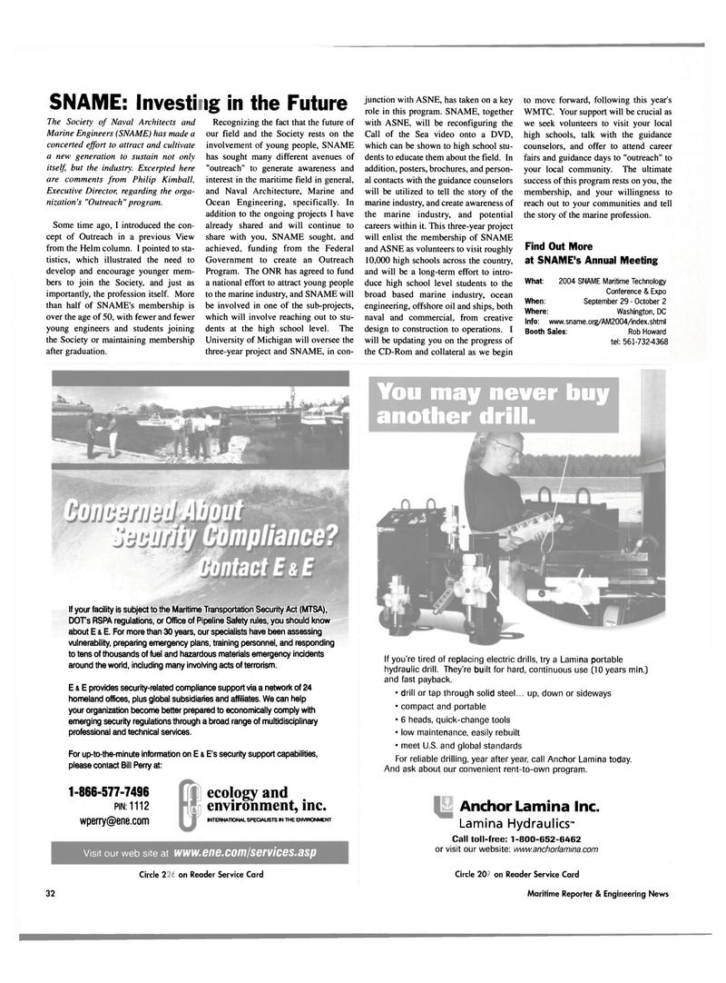 Michigan, Maritime Reporter Magazine April 2004 #34