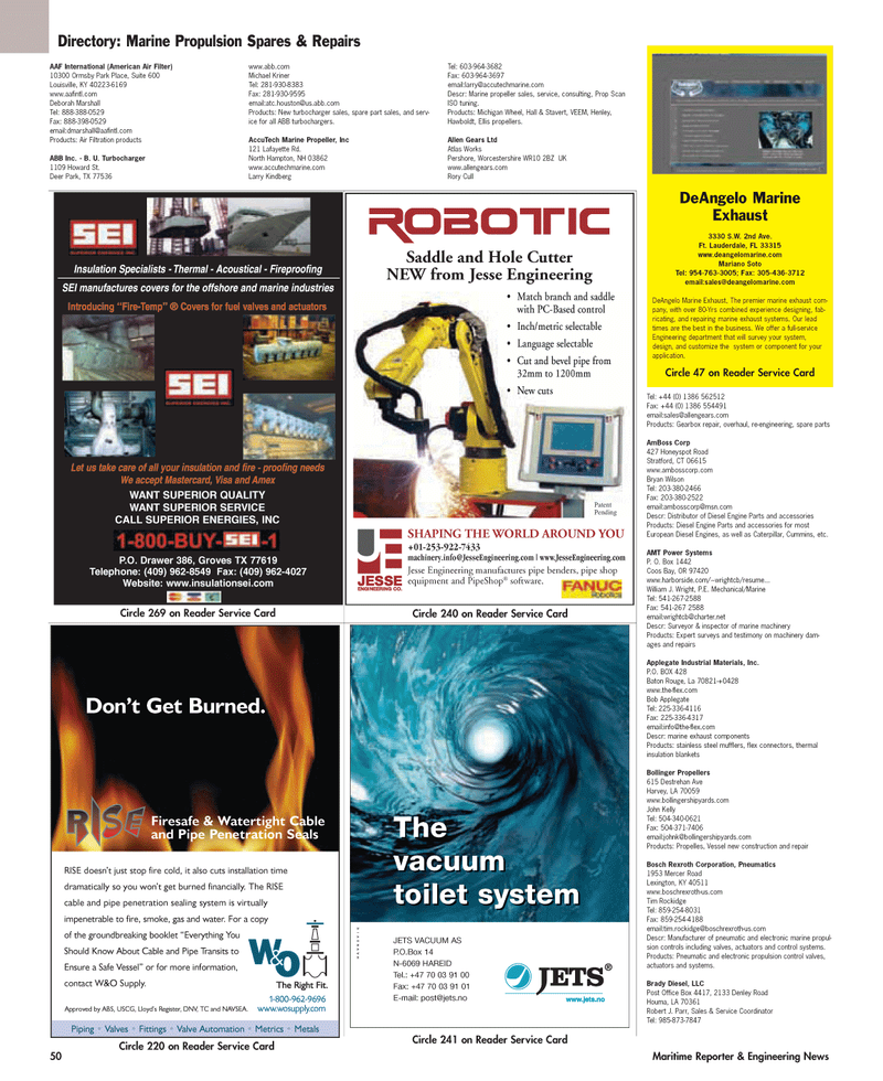 Maritime Reporter Magazine, page 50,  May 2005