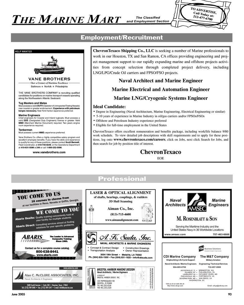 Laser, Maritime Reporter Magazine June 2005 #94