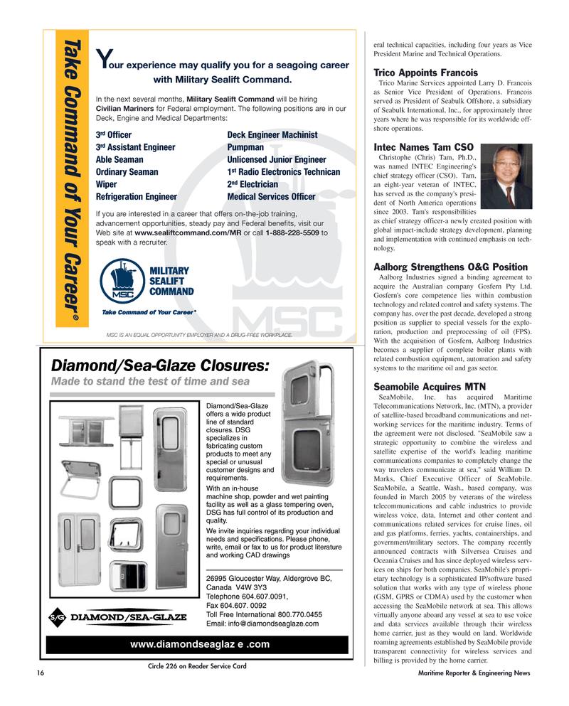 CAD, Maritime Reporter Magazine June 2006 #16