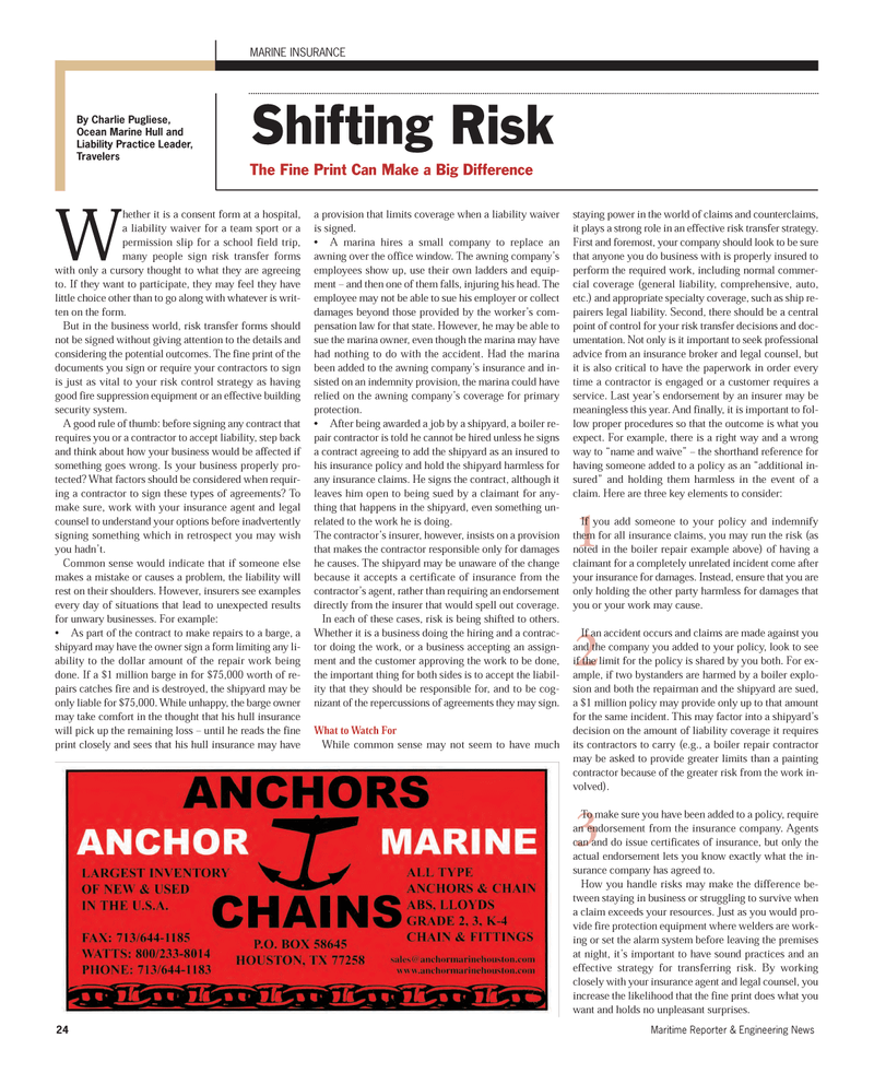 Maritime Reporter Magazine, page 24,  Sep 2012