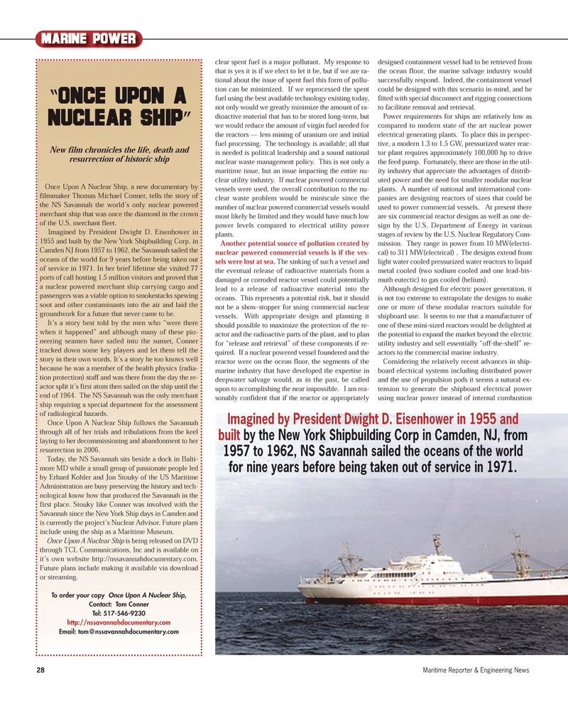 Maritime Reporter Magazine, page 28,  Sep 2012