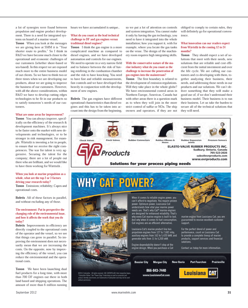Maritime Reporter Magazine, page 31,  Sep 2012