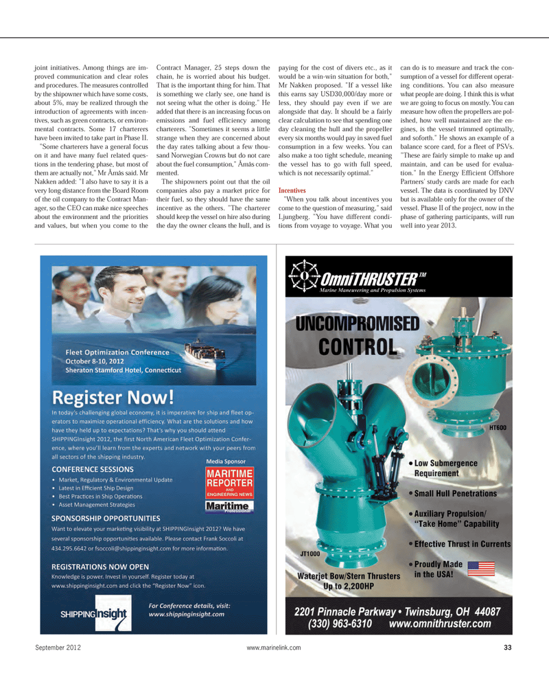Maritime Reporter Magazine, page 33,  Sep 2012