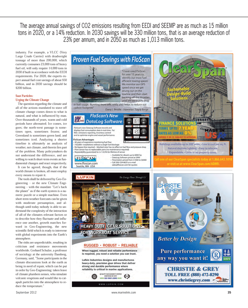 Maritime Reporter Magazine, page 35,  Sep 2012