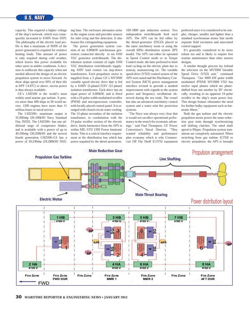 Maritime Reporter Magazine, page 30,  Jan 2013 machinery room