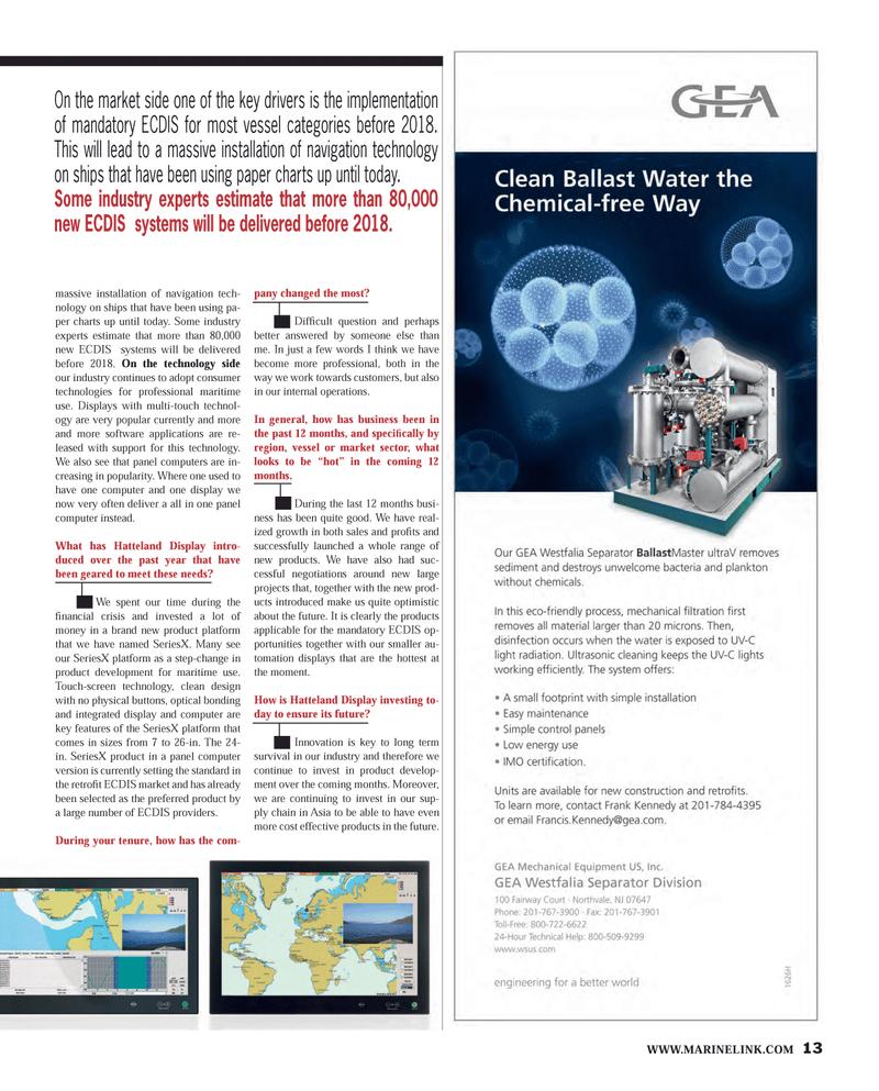 Maritime Reporter Magazine, page 13,  Feb 2013