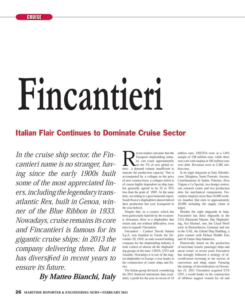 Maritime Reporter Magazine, page 26,  Feb 2013