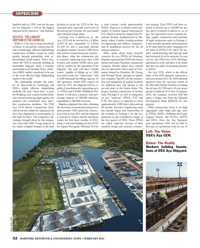 Maritime Reporter Magazine, page 32,  Feb 2013