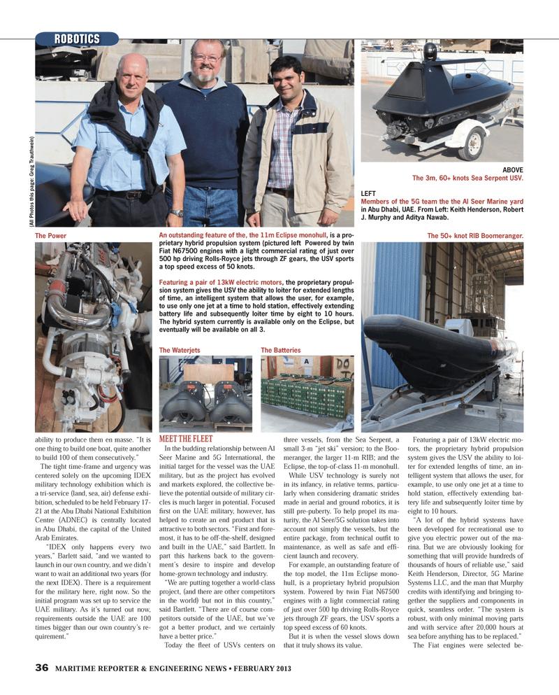 Maritime Reporter Magazine, page 36,  Feb 2013