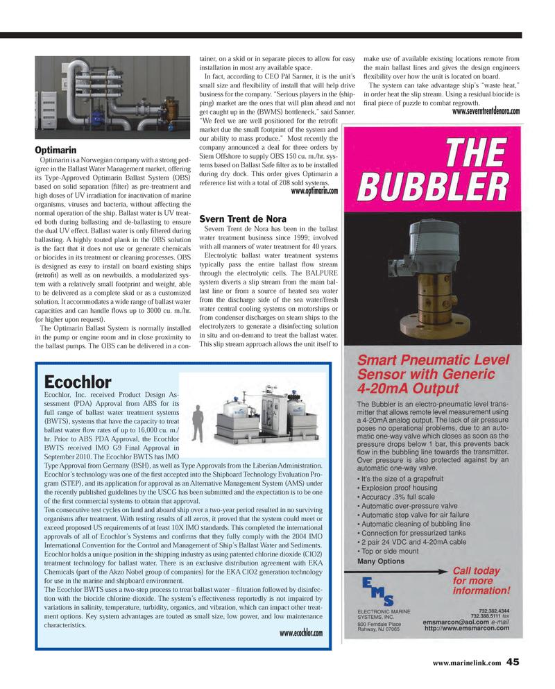 Maritime Reporter Magazine, page 45,  Feb 2013
