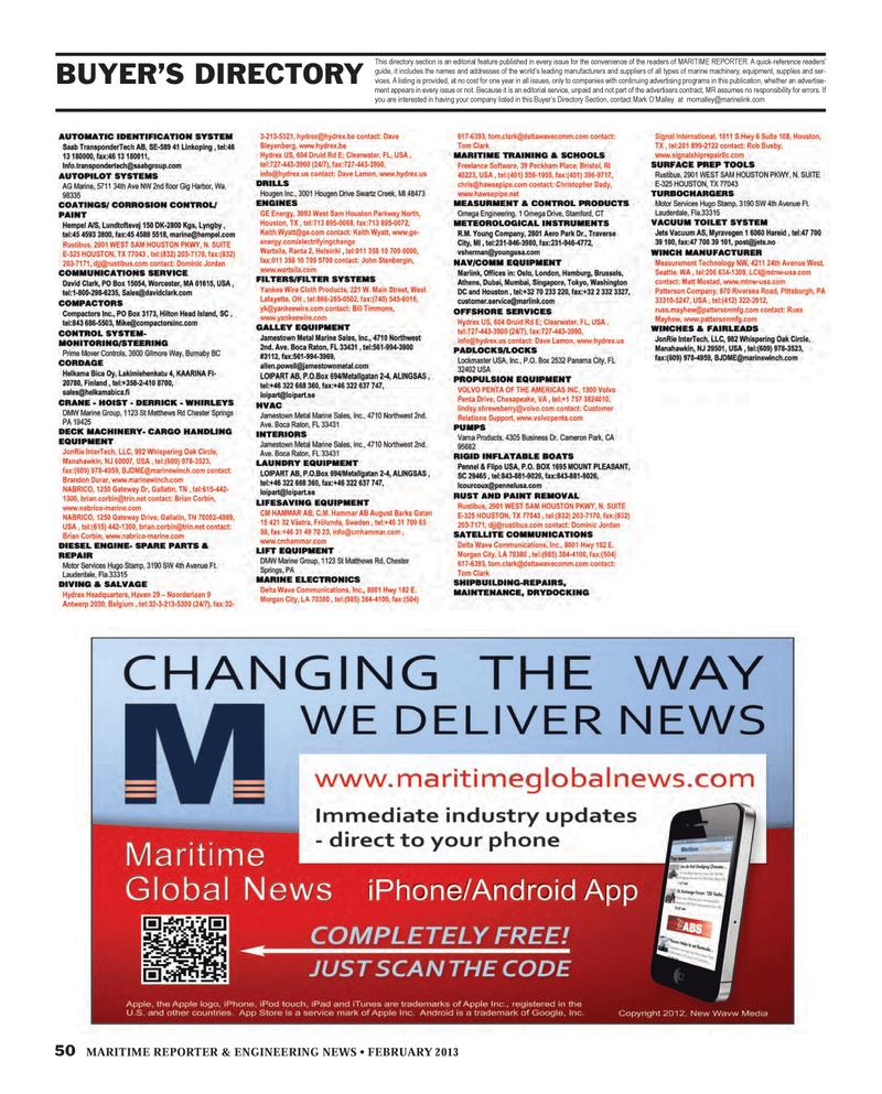 Maritime Reporter Magazine, page 50,  Feb 2013