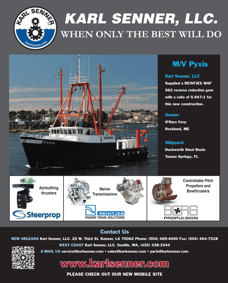 Maritime Reporter Magazine, page 4th Cover,  Feb 2013