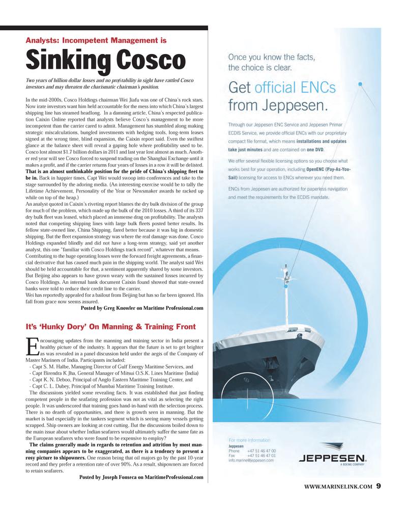 Maritime Reporter Magazine, page 9,  Mar 2013 Birendra K Jha