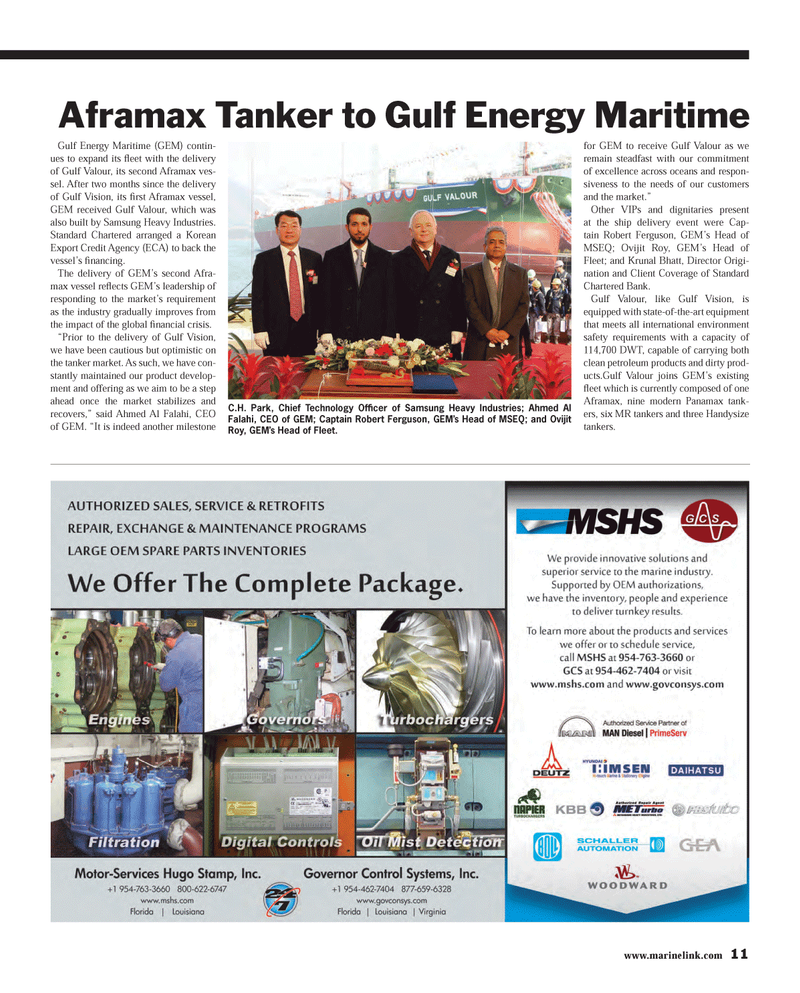 Maritime Reporter Magazine, page 11,  Mar 2013 clean petroleum products