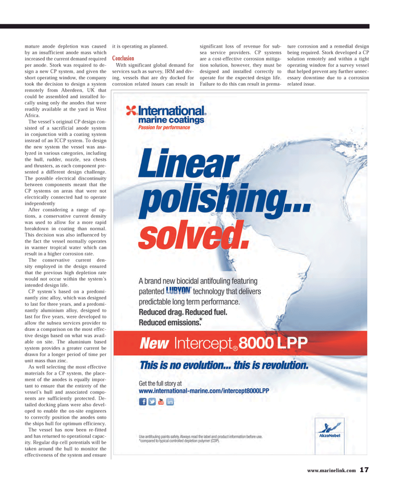 Maritime Reporter Magazine, page 17,  Mar 2013 West Africa