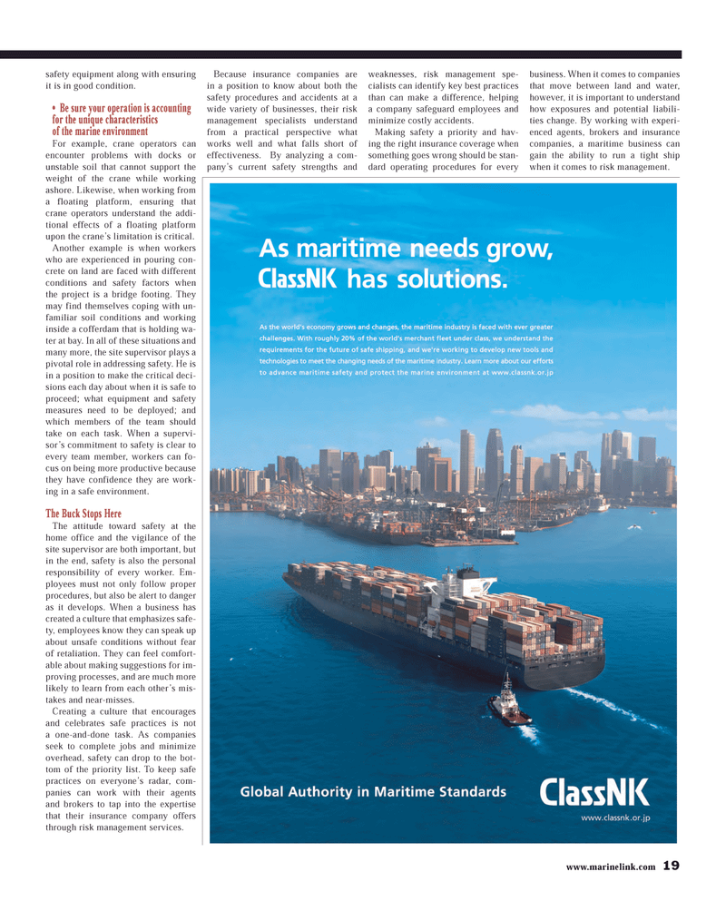 Maritime Reporter Magazine, page 19,  Mar 2013 insurance company offers