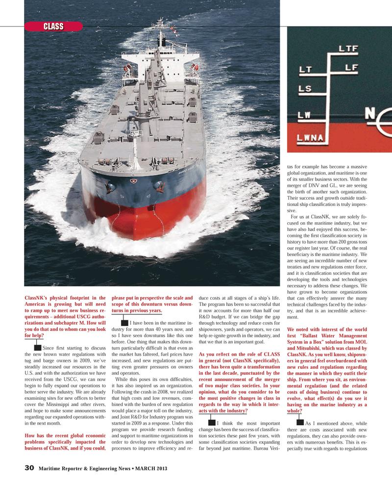 Maritime Reporter Magazine, page 30,  Mar 2013 Americas