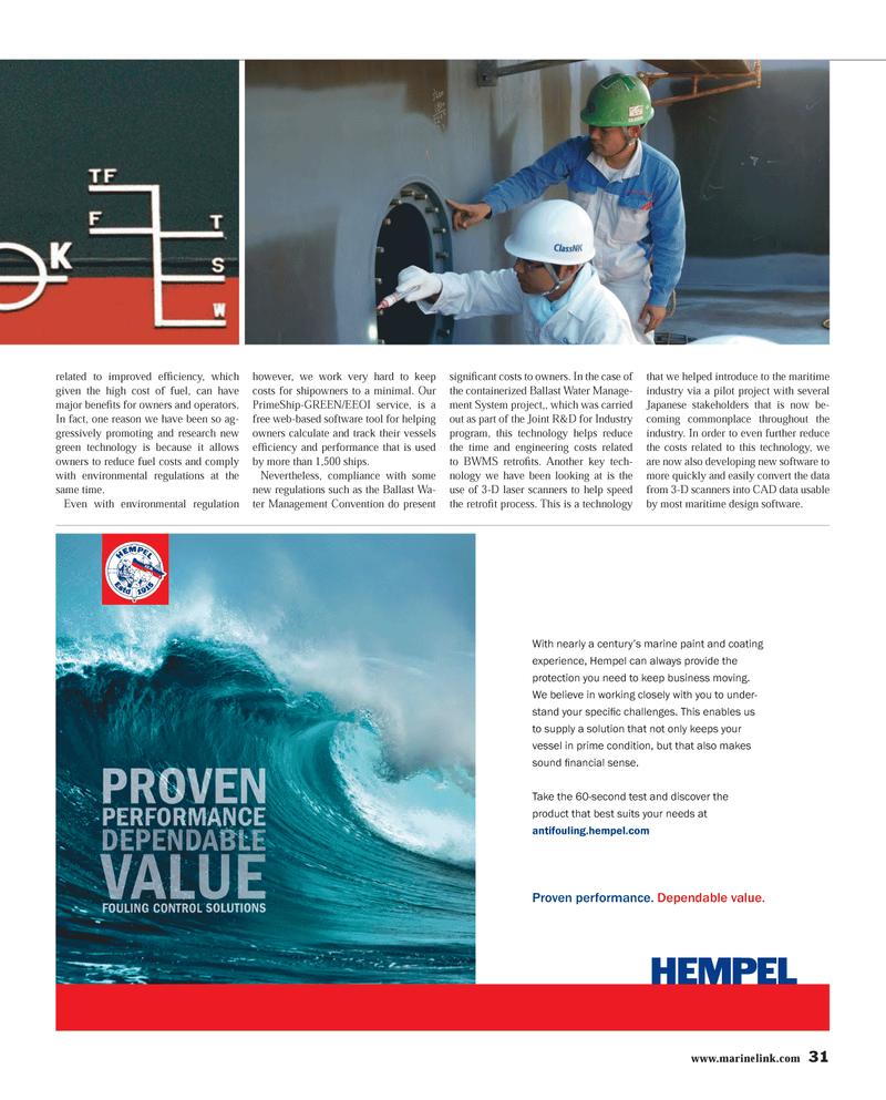 Maritime Reporter Magazine, page 31,  Mar 2013 century?s marine paint