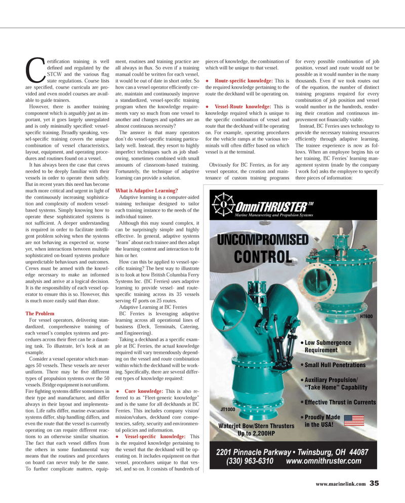 Maritime Reporter Magazine, page 35,  Mar 2013 adaptive systems
