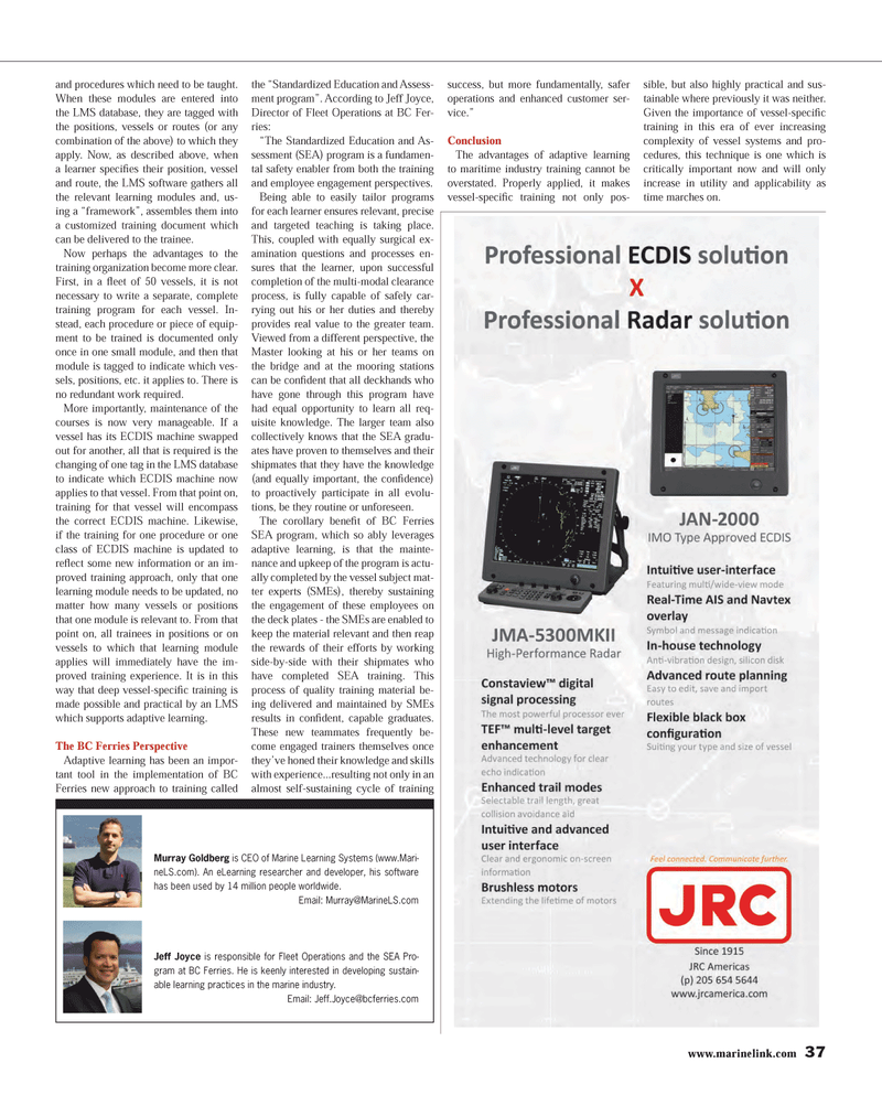 Maritime Reporter Magazine, page 37,  Mar 2013 vessel systems