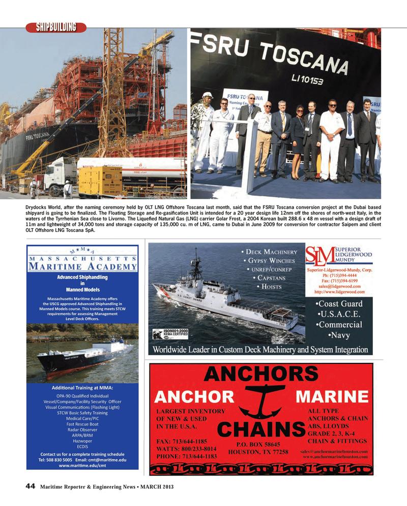 Maritime Reporter Magazine, page 44,  Mar 2013 Tyrrhenian Sea