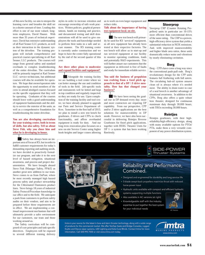 Maritime Reporter Magazine, page 51,  Mar 2013 Service Center