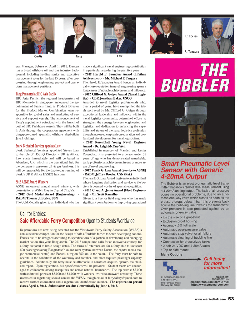 Maritime Reporter Magazine, page 53,  Mar 2013 Subsea