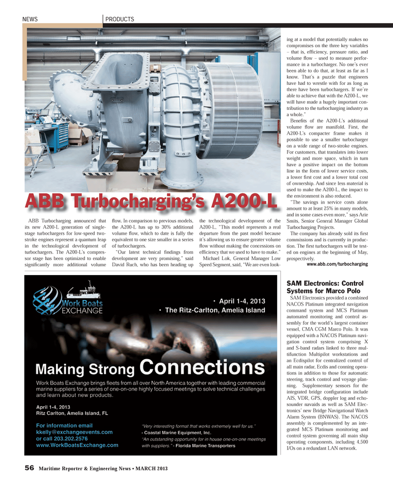 Maritime Reporter Magazine, page 56,  Mar 2013 Arie Smits