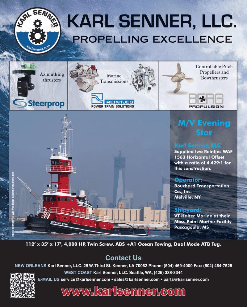 Maritime Reporter Magazine, page 4th Cover,  Mar 2013 V EveningStarKarl Senner LLC