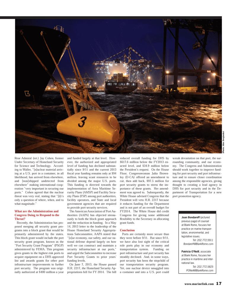 Maritime Reporter Magazine, page 17,  Jul 2013