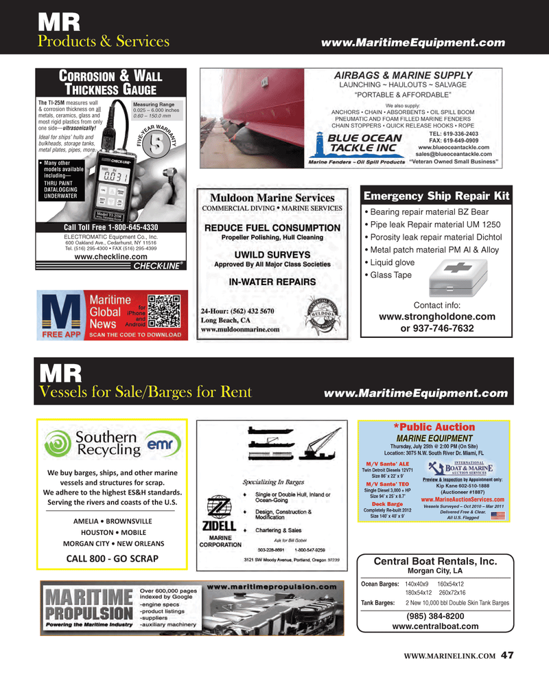 Maritime Reporter Magazine, page 47,  Jul 2013