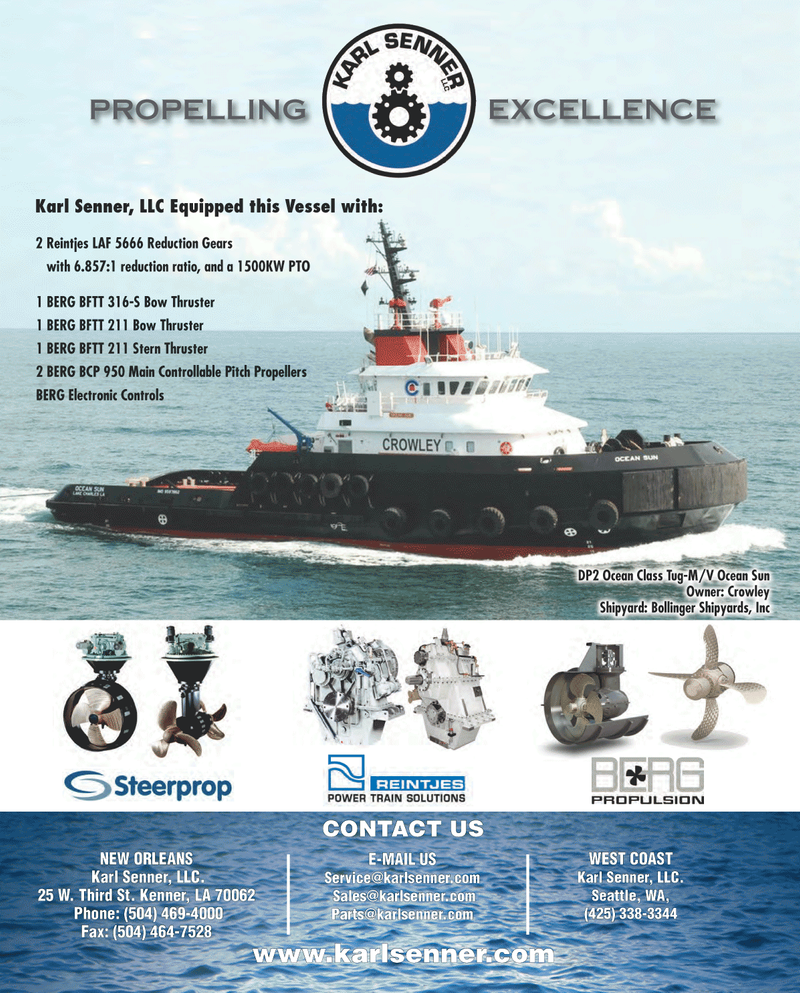 Bow Thruster, Maritime Reporter Magazine July 2013 #4th Cover