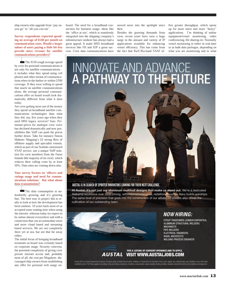 Maritime Reporter Magazine, page 13,  Dec 2013