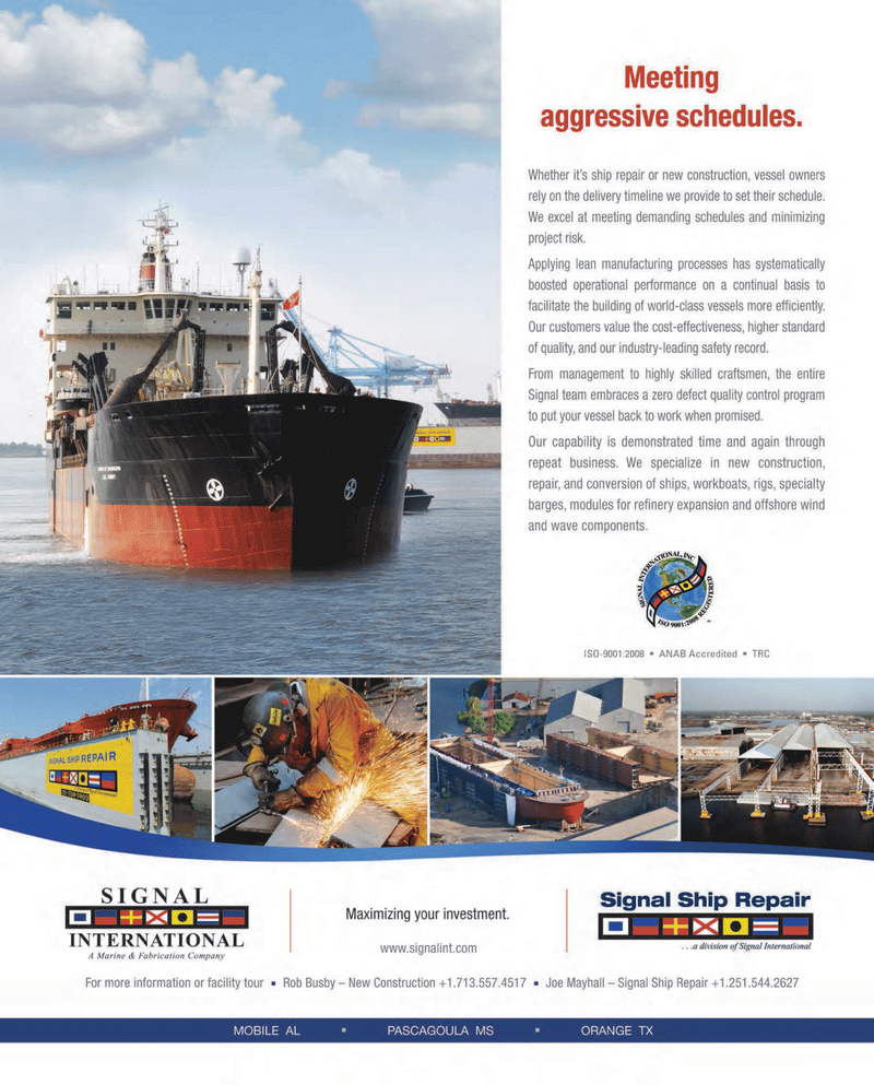 Maritime Reporter Magazine, page 2nd Cover,  Dec 2013