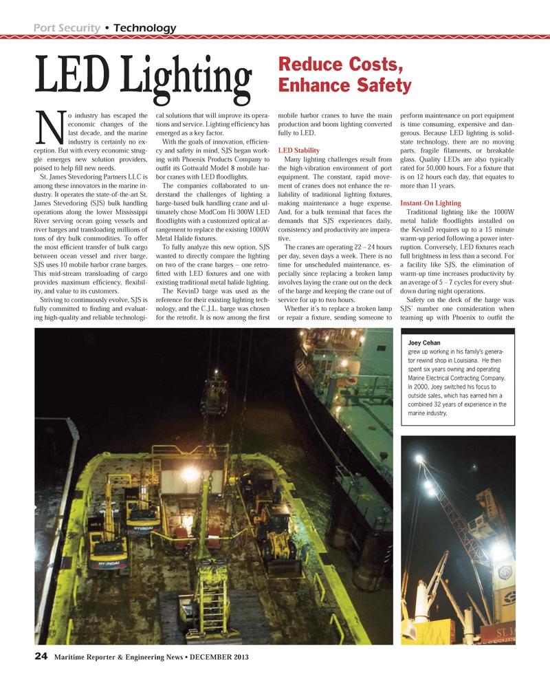 Maritime Reporter Magazine, page 24,  Dec 2013