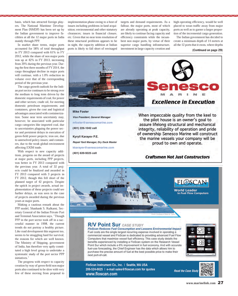 Maritime Reporter Magazine, page 27,  Dec 2013