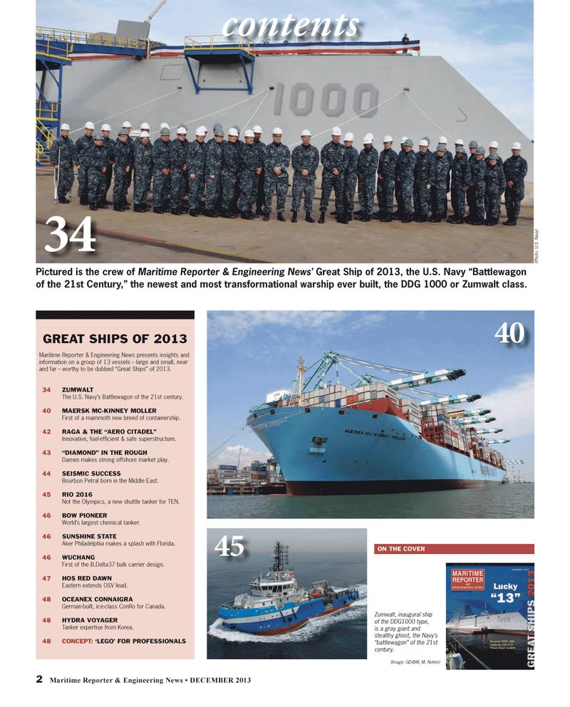 Maritime Reporter Magazine, page 2,  Dec 2013