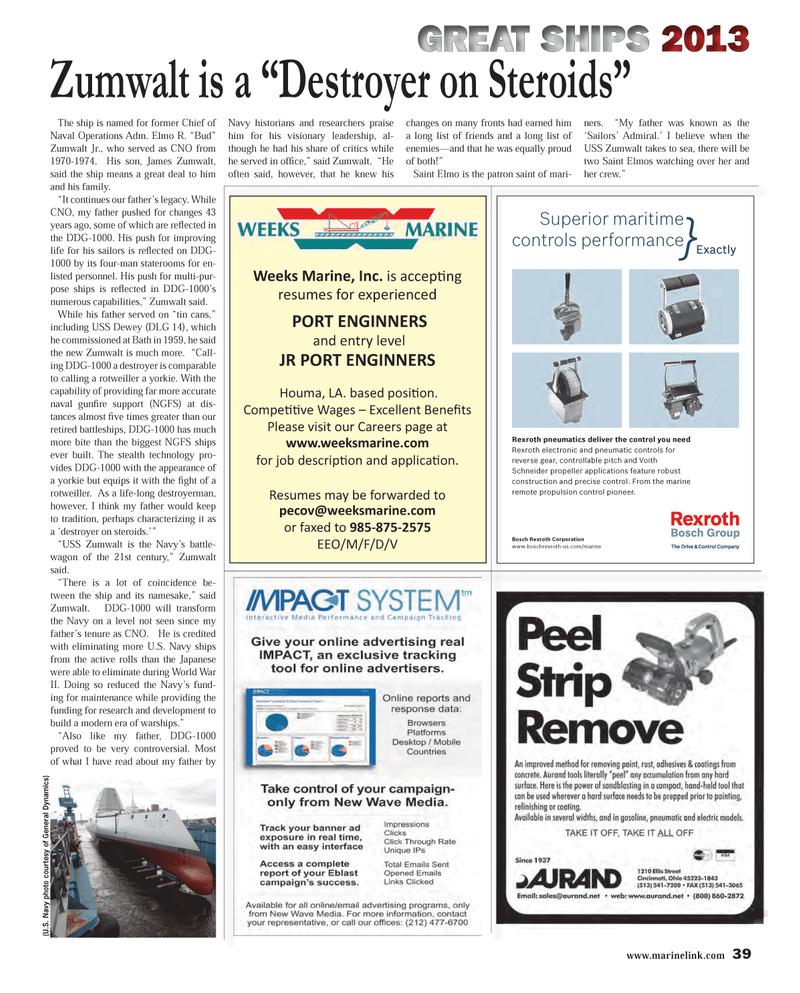 Maritime Reporter Magazine, page 39,  Dec 2013