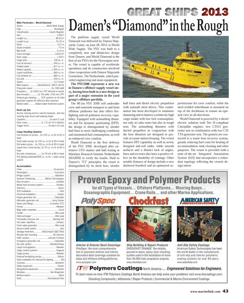 Maritime Reporter Magazine, page 43,  Dec 2013