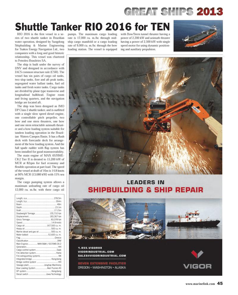 Maritime Reporter Magazine, page 45,  Dec 2013
