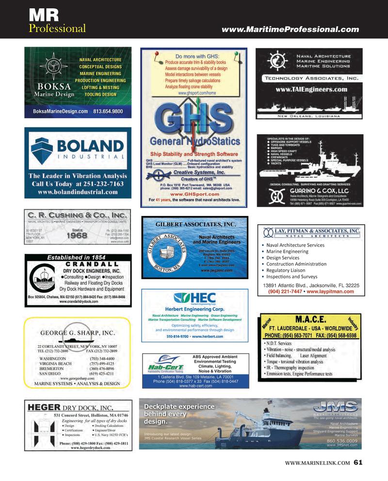 Maritime Reporter Magazine, page 61,  Dec 2013