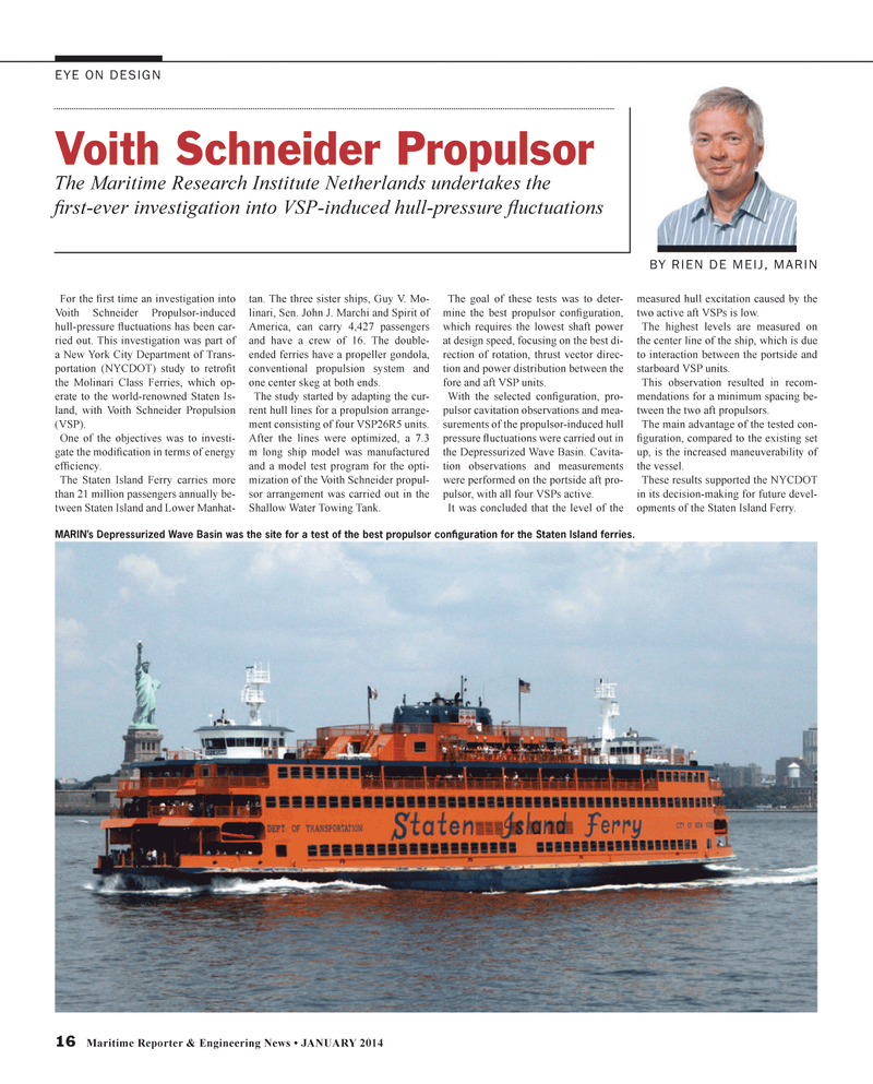 Maritime Reporter Magazine, page 16,  Jan 2014 Guy V. Mo