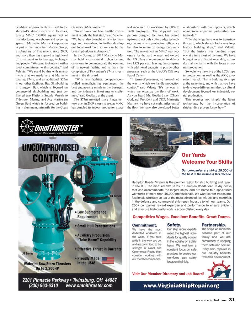 Maritime Reporter Magazine, page 31,  Jan 2014 United States Navy