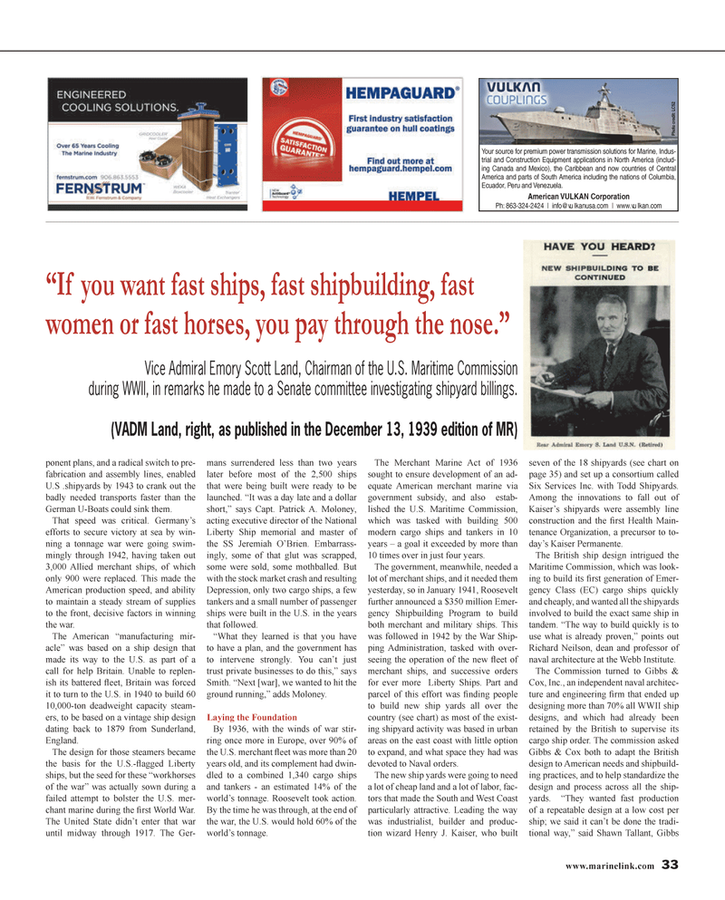 Maritime Reporter Magazine, page 33,  Jan 2014 Caribbean
