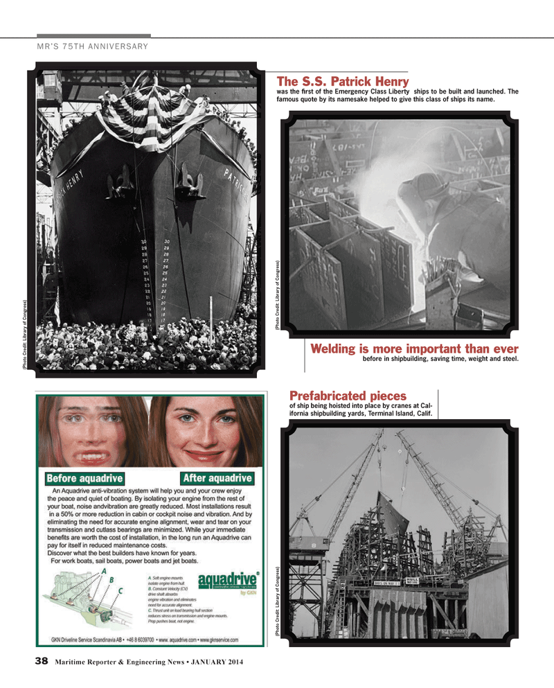 Maritime Reporter Magazine, page 38,  Jan 2014 Terminal Island