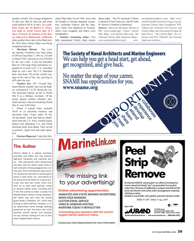 Maritime Reporter Magazine, page 39,  Jan 2014 New York